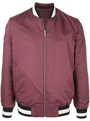 Cerruti 1881 Zipped Bomber Jacket Red