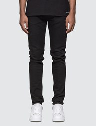 Alexander Mcqueen Embroidered Pocket Slim Fit Jeans Black