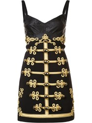Dolce And Gabbana Military Button Dress Black