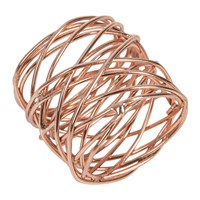 Amara Woven Copper Napkin Rings Set Of 4