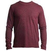 Tonn Surf Organic Cotton Long Sleeve Pocket Tee Wine