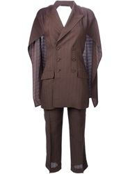 Jean Paul Gaultier Vintage Backless Two Piece Suit Brown