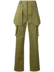 Alberta Ferretti Multi Pocket Trousers Green
