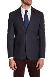Original Penguin Notch Collar Wool Sport Coat Blue