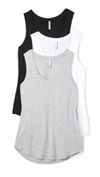 Z Supply Sleek Jersey Tank 3 Pack Black White Grey