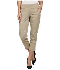 Jag Jeans Hope Bay Twill Slim Fit Crop British Khaki Women's Casual Pants Brown