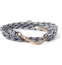 Miansai Cord And Gold Plated Hook Wrap Bracelet Gray
