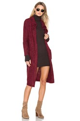 Minkpink Looped Out Waterfall Cardigan Burgundy