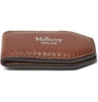 Mulberry Full Grain Leather Money Clip Tan