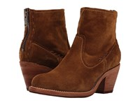 Frye Leslie Artisan Short Wheat Oiled Suede Cowboy Boots Brown