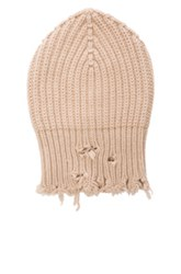 Unravel Rib Knit Beanie In Neutrals