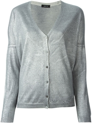 Avant Toi Metallic Cardigan Grey