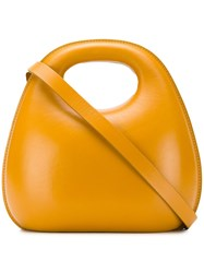 Christophe Lemaire Rounded Edges Tote Yellow And Orange