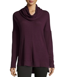 Neiman Marcus Stretch Knit Dolman Sleeve Tee Grapewine