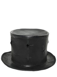 Move Cross Cuts Leather Top Hat