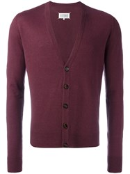 Maison Martin Margiela Knitted Cardigan Red