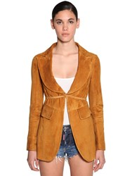 Dsquared Suede Jacket Light Brown