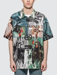 Burberry Submarine Print Cotton Shirt Multicolor