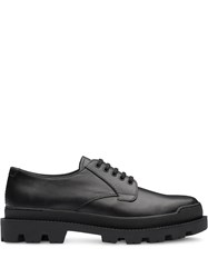 Prada Leather Laced Shoes Black