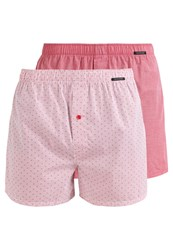 Schiesser 2 Pack Boxer Shorts Rot Red