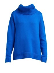 Joseph Sloppy Joe Oversized Chunky Knit Sweater Blue