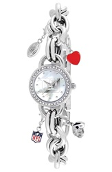 Game Time 'Nfl New York Giants' Charm Bracelet Watch 23Mm