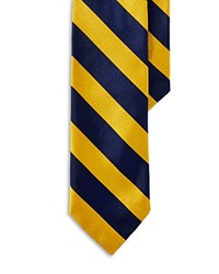 Polo Ralph Lauren Striped Silk Repp Tie Yellow