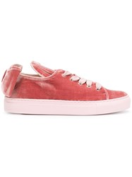 Minna Parikka Velvet T Bow Sneakers Pink And Purple