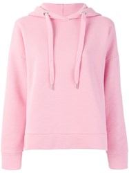 Closed Oversized Hoodie Pink And Purple