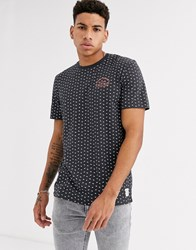 Tom Tailor T Shirt With All Over Palm Print Grey