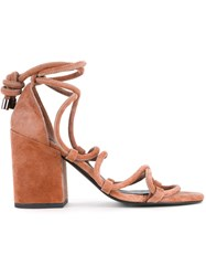 Senso Wyatt Sandals Women Suede Pig Leather Synthetic Resin 42 Brown