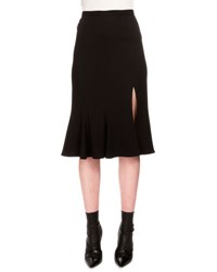 Altuzarra Flared Cady Midi Skirt W Slit Black