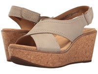 Clarks Aisley Tulip Sage Nubuck Women's Sandals Taupe