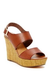 J.Crew Slingback Wedge Brown