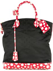 Louis Vuitton Vintage Dots Lockit Vertical Mm Kusama Yayoi Hand Tote Black