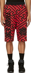 Ktz Black And Red 'Third Eye' Shorts