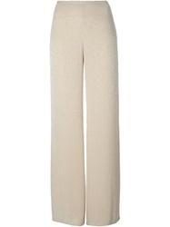 Armani Collezioni Wide Leg Beaded Trousers
