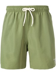 Barbour Logo 5 Swimming Shorts Green