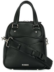 Versus Zipped Tote Leather Black