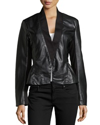 Bagatelle Knit And Faux Leather Jacket Small