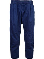 Casey Casey Cropped Crumpled Trousers Blue