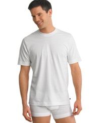 Jockey Men's Underwear Stay Cool Crew Neck 2 T Shirts Pack White