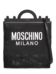Moschino Logo Print Net Tote Bag Black
