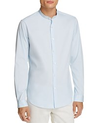 Theory Band Collar Slim Fit Button Down Shirt 100 Bloomingdale's Exclusive Light Blue