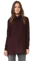 Cupcakes And Cashmere Dexter Cowl Neck Sweater Oxblood