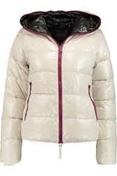 Duvetica Thia Quilted Shell Down Coat Off White