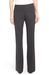 Boss Women's 'Tulea' Bootcut Stretch Wool Suit Trousers Charcoal