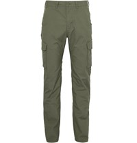 Patagonia Granite Park Organic Stretch Cotton Blend Trousers Army Green