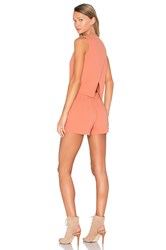 Blaque Label Cross Back Romper Orange