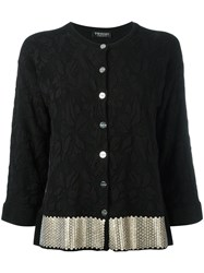 Twin Set Floral Pattern Fitted Jacket Black